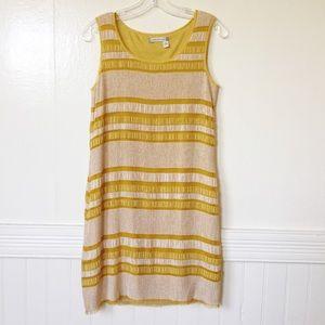 🌞Chelsea & Violet🌞 Mustard Striped Boho Dress